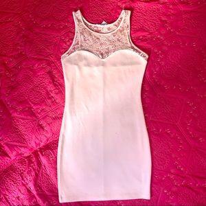 Forever 21 Blush Bodyhugging Dress Size M